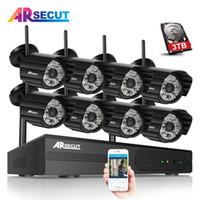 Wholesale wireless ip camera hd ir resale online - P2P CH Wireless NVR CCTV Camera Kit P HD Outdoor IR Night Vision Security IP Camera Surveillance System