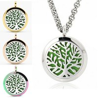 Multicolor Plant Design Aromaterapia Lockets Pendant Nacklace Magnetic Essential Oil Diffuser Colar Tree Pattern Perfume Lockets Jóias