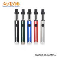 Wholesale Ego Vape Pen Kit - Joyetech Ego Aio Eco Kit 650mah with 1.2ml Capacity Atomizer All-in-one Vape Pen Electronic Cigarette