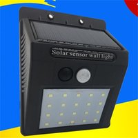 Wholesale human solar lamp resale online - Home Decor Lamp Garden Decorations Solar Power LED Human Body Induction Light Security Outdoors Yard Wall Hot Sale rs V