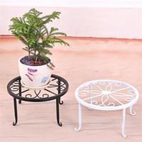 ingrosso bonsai al coperto fiorito-Iron Art Indoor Flower Telaio Stand Bonsai Desktop Decor Holder Supporto antiusura Flowerpot Non facile da deformare 8jx jj