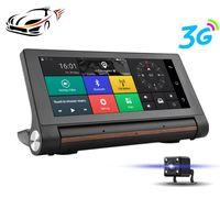 Wholesale dash camera navigation resale online - 3G Car DVR GPS Navigation Inch Android Dash Cam Camera Bluetooth WiFi FM Transmitter Full HD P Video Recorder Registrator