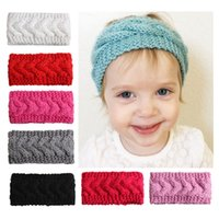 Wholesale baby girl yellow hair for sale - Group buy Baby girl Knit Headband Twist Head Band Ear protection knit hair accessories for girl cheap