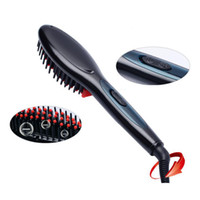 Wholesale red straightening irons online - 2018 NEW Electric hair straightener brush Hair Care Styling Comb Auto Massager Straightening Irons SimplyFast Hair iron