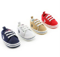 Wholesale Newborn Baby Cribs - 0-18 M Baby Shoes Newborn Girl Boy Soft Sole Crib First Walkers Toddler Canvas Sneaker Prewalker