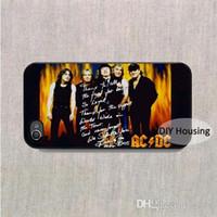рок-телефон оптовых-Бесплатная доставка чехол для мобильного телефона Rock Band ACDC крышка пластиковая задняя крышка для iPhone 5 5S SE 5c 6 6s 7 8 Plus X samsung note 8 s9 плюс крышка