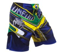 Wholesale Relaxing Canvas - Free shipping New Fashion Quality goods-MMA UFC SANTA MUERTE 2.0 FIGHT SHORTS -Muay Thai Boxing Sport Camo Pants Beach Shorts Swim shorts
