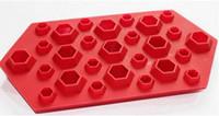 edelsteinform großhandel-3D Diamanten Gem Cool Ice Cube Schokolade Seifenschale Mold Silikon Party Maker
