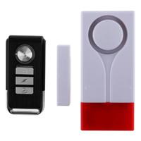 ingrosso allarme del rivelatore di vibrazioni-Wireless Light + Sound Vibration Alarm Magnet and Vibration Sensor Telecomando per porte e finestre Rilevatore di sicurezza domestica SAM_403