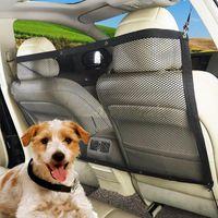 Wholesale car seats carriers resale online - 115 cm Vehicle Pet Dog Cat Safety Car Back Seat Nylon Net Mesh Barrier Guard Mesh Nets Dog Carrier OOA5079