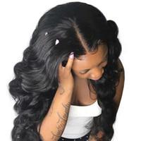 Wholesale silk top human hair lace online - 4x4 Silk Base Lace Front Human Hair Wig Brazilian Remy Hair Silk Top Lace Front Wigs Human Hair LIN MAN