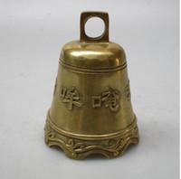 ingrosso campana d'ottone natalizio-decorazioni natalizie per la casa + Alta: 10 CM Home Decor Feng Shui ottone Campana / Decorazione in metallo Artigianato Lucky Bell
