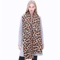 ingrosso sciarpa del cachemire del leopardo-Sciarpe invernali nuove donne di vendita caldo stampa leopardo scialle in cashmere sciarpe coperte calde sciarpe moda bufanda femminile Spagna pashmina