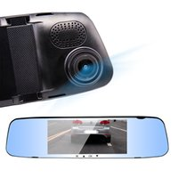Wholesale Touchscreen Mirrors - New 5.0''1080P HD X10 touchscreen rearview mirror dual lens dual recording HD driving recorder Rearview Mirror night vision
