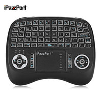 Wholesale micro keyboard - New IPazzPort KP-810-21TL Wireless Mini Keyboard Micro USB Backlight Function With Touchpad For PC Xbox 360 PS4 Android TV Box