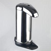 automatische edelstahl-seife großhandel-Infrarot Sensor Seifen Dispenser Edelstahl Automatische Induktion Flüssigseife Spender Für Küche Badezimmer 23 mtx C R