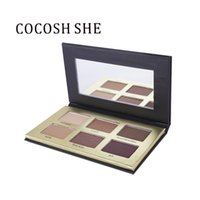 зеркало для макияжа макияжа оптовых-COCOSH SHE Eyeshadow Palette 6 Color Smokey Matte Natural Eye Shadow Cosmetics Waterproof EyeShadow  with Mirror cosmetic