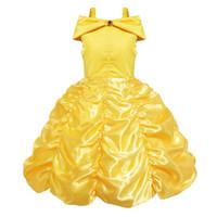canavarın kıyafeti toptan satış-Kızın Elbiseleri Cadılar Bayramı Çan Prenses Elbise Güzellik ve Beast Kız Prenses Elbise Dış Ticaret Cosplay Kostüm