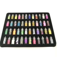 nuevo gel de uñas en polvo al por mayor-Rushed Nail Glitter Powder Nuevo 48 Botellas / set Mini Serie de lentejuelas de colores Granos de uñas de acrílico Uv Gel Rhinestone Decoración
