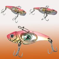 ingrosso i giubbotti di pesca guidati-Esche da pesca a LED FireFly Lighted 4-Pack Fishing Spoon - Scopri LED elettronico alimentato a batteria Underwater Light-Up Jigs di molti colori