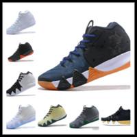 new style 12558 e0351 2018 Herbst Kyrie Irving 4 Basketball Schuhe für Billig Verkauf Sneakers Sport  Herren Schuh Wolf Grey Team Red Outdoor Trainer BasketBall Boots Box
