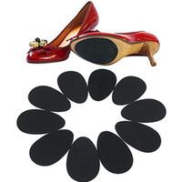 adhesivos para suelas de zapatos al por mayor-Nuevo! Antideslizante, zapatos autoadhesivos, estera, tacón alto, suela, protector, almohadillas de goma, cojín, antideslizante, plantilla, antepié, tacones altos, pegatina