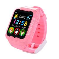teléfono de seguridad para niños al por mayor-2018 GPS Tracker reloj inteligente K3 Kids Security Smartwatch cámara pantalla táctil a prueba de agua niños SOS SIM teléfono Anti-Lost Relojes de silicona