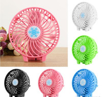 Wholesale Portable Rechargeable Folding Fan USB Charging Cool Removable Rotating Handheld Mini Outdoor Fans Pocket Folding Fan Party Favor