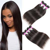 Wholesale hair weave suppliers - Superior Supplier Brazilian Virgin Hair Silky Straight Human Hair Bundles 3 4 Remy Peruvian Malaysian Indian Virgin Hair Extensions Wefts