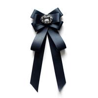 ingrosso colletto di bowtie-Moda uomo donna Papillon per feste da matrimonio College Tie neck wear Farfalla classica regolabile bowtie Accessori per colletto a camicia