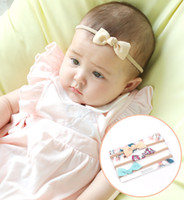 c0e85a1a4ca Newborn Baby Headbands bow floral Elastic Headband Children Hair  Accessories Kids Cute Hairbands for Girls Nylon Bow Headdress KHA601