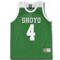 Wholesale school uniform costumes cosplay - Slam Dunk Cosplay Costume SHOYO NO.4 Enji Fujima Basketball Jersey School Basketball Team Uniform Clothing Vest Size M-XXL