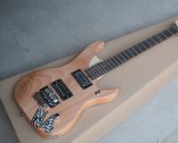 Wholesale electric guitar natural color resale online - Factory Custom Natural Wood Color Electric Guitar with Mahogany Body Rosewood Fretboard Floyd Rose guitarra guitars