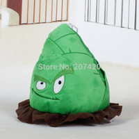 Wholesale- Plant Vs Zombies 2 20cm Green Bamboo Spara bambole in peluche, 1pz / pacco