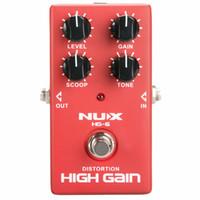 rocking electric guitar großhandel-NUX HG-6 Verzerrung High Gain E-gitarre Effektpedal Heavy Metal Rock Stil True Bypass effektpedal kostenloser versand