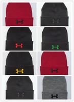 ingrosso sciarpe cappelli beanie-Buona vendita Marca UA Inverno Fleece Cappello Sciarpa Set Sotto Antivento Cappelli Sciarpe Calda Sciarpe Cappellini Berretto Unisex Berretto