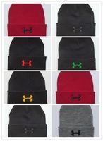 beanie şapka eşarp seti toptan satış-İyi Satış Marka UA Kış Polar Şapka Eşarp Set Rüzgar Geçirmez Altında Şapka Boyun Körüğü Sıcak Atkılar Kafatası Unisex Bere Kap