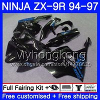 Wholesale 96 kawasaki zx9r for sale - Body Black blue frame For KAWASAKI NINJA ZX900 ZX9R HM ZX R ZX R CC ZX R Fairing kit