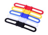 support de téléphone vtt achat en gros de-Bracelet en silicone Mountain Road Bike Torch Téléphone Bandes de lampe de poche Bandage élastique Bicycle Light Mount Holder Bike Drop Shipping