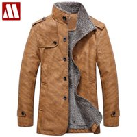 Wholesale Sheep S Wool - Wholesale- HOT!! Winter warm motorcycle Leather jacket Men's Casual Brand Jacket luxury fur sheep leather men's Fur coat Free shipping D448