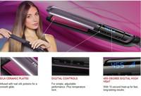 "Wholesale hair straightener ceramic red - High Quality LCD Hair Straightener S9600 Ceramic 1 ""Straightener Iron 110V-240V Hair Straightener Iron 455F Red Free Shipping"