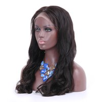 Wholesale body wave wig cap hairstyles for sale - long Human Hair Full Lace Wigs natural Wave Brazilian Malaysian Swiss Lace Cap Lace Front Wigs loose wave