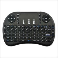 dokunmatik yüzey usb kablosu toptan satış-Mini i8 Klavye Dokunmatik Fly Hava Fare ücretli pil USB Kablosu Taşınabilir 2.4G Rii Mini i8 Kablosuz Klavye Mouse Combo Touchpad PC MQ20