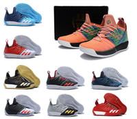 Wholesale iron man 12 - 2018 Mens Harden Vol. 2 Traffic James Concrete Basketball Shoes fro men Grey Black Dgh Solid Iron Metallic designer trainer Sneakers 7-12