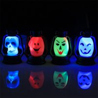 Wholesale aa electronics for sale - New Creative Human Skeleton Pumpkin Small Lantern LED Electronics Luminescence Glim Multi Color Party Supplies Hot Sale cy aa