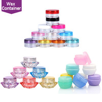 Wholesale food grade plastic containers - Plastic Wax Containers Jar Box Cases 5ml Capacity Wax Holder container Food Grade Wax Tools Storage For Silicone Pipes Smoking Glass Bongs