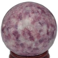 Wholesale Stone Sphere Stands - 1 piece New arrival Natural round Lilac Lepidolite jade stone Crystal Quartz sphere with stand healing crafts Polished ball Specimen mineral