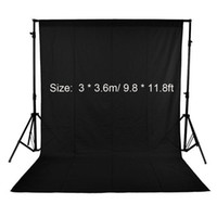 Wholesale Green Fabric Background - ackdrop black Andoer 3 * 3.6m  9.8 * 11.8ft Nonwoven Fabric Photography Background Studio Backdrop Black Green White(Optional,Only one pi...