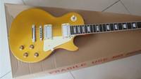 guitarras elétricas corpo mogno venda por atacado-Novo Ariival Marca New Gold Top VS Goldtop Mahogany Corpo Rosewood Fretboard Padrão Guitarra Elétrica Frete Grátis