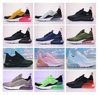 Wholesale Mens Shoes Rubber Sole - Wholesale high quality Mens Flair Triple Black 270 AH8050 Trainer Sports casual Shoes Womens sole 270 Sneakers Size 36-45